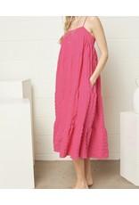 Tired Maxi Dress - Hot Pink
