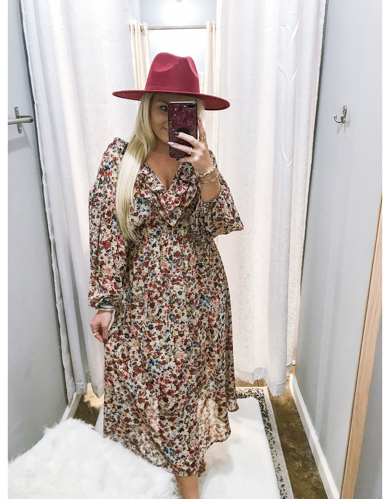Smocked Waist Floral Boho Maxi Dress