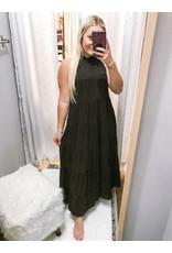 Mock Tiered Maxi Dress - Black