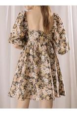 STORIA Floral Boho Dress - Black