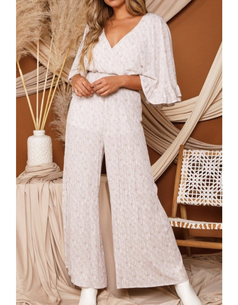 Star Jumpsuit - Taupe