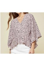 Spotted Top - Mauve