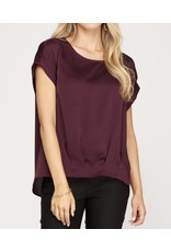 Pleated Front Top