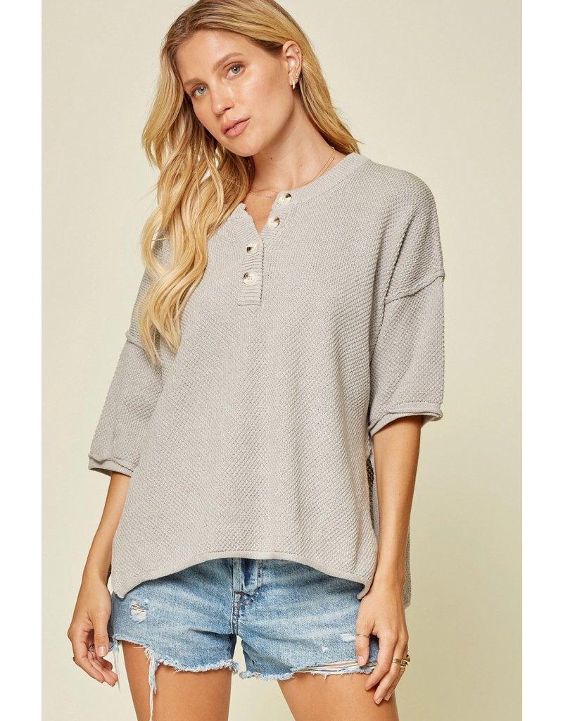 Lightweight Button Sweater