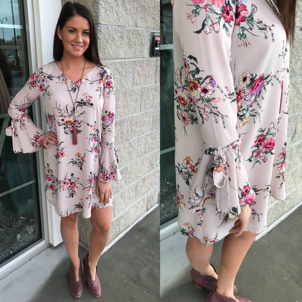 Floral Dress - Blush