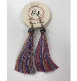 Multocolor Tassel  Earrings