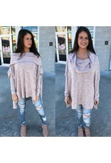Oversized Knit Tunic - Blush