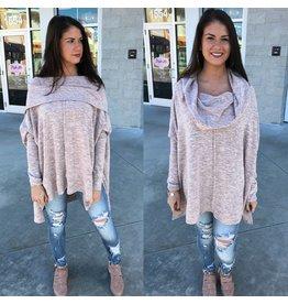 Oversized Knit Tunic - Blush