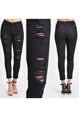 High Waist Distrssed Jeans