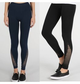 Diagonal Mesh Leggings
