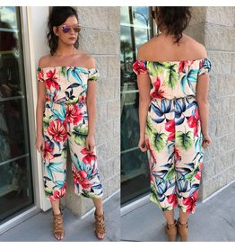 Floral Jumpsuit - Cream