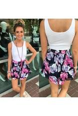 Floral Shorts - Navy
