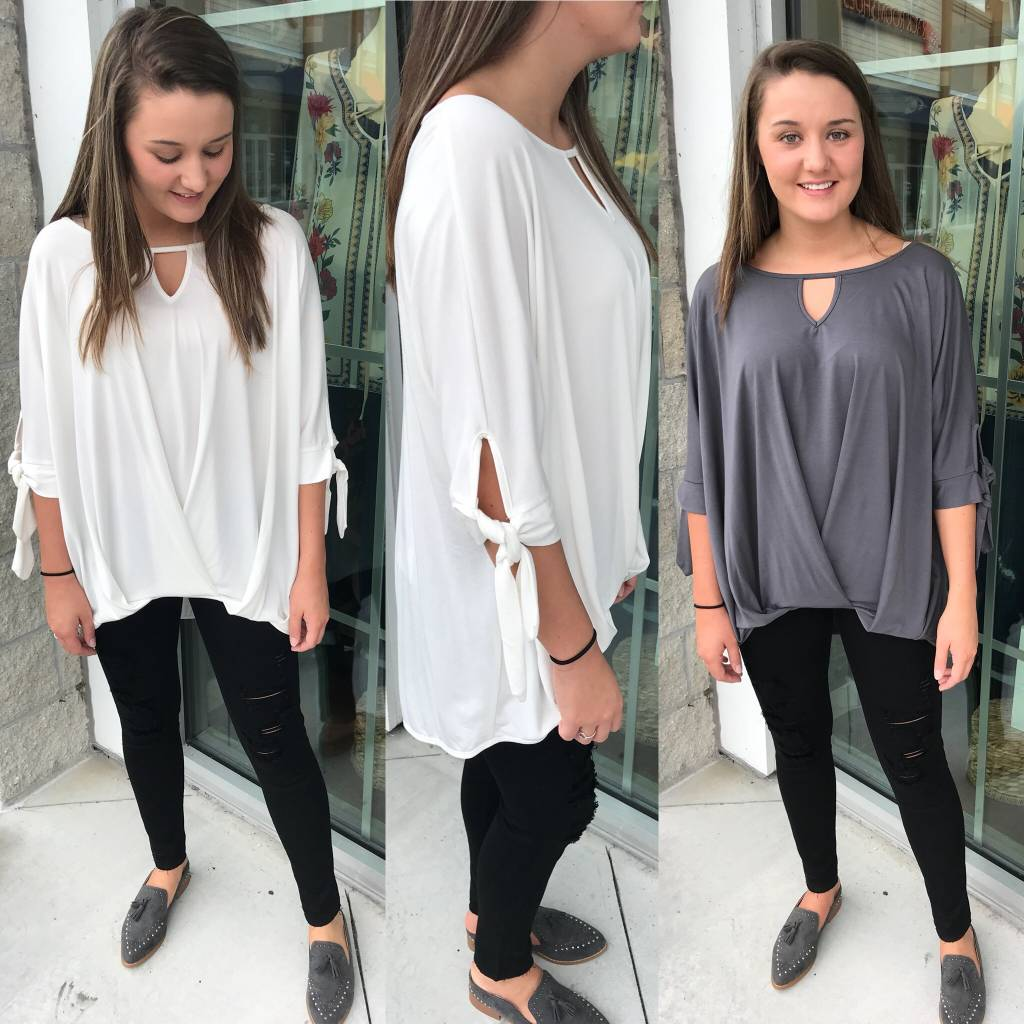 Bamboo Tie Detail Tunic