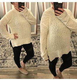 Popcorn Pullover Sweater