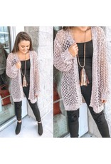 Breezy Knit Cardigan - Peach