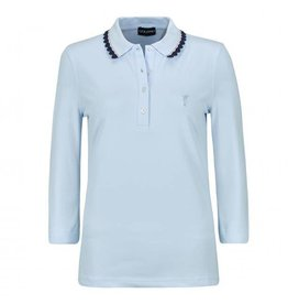 Golfino Golfino Alpine 3/4 Sleeve Polo Chambray