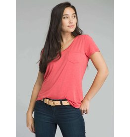 prAna prAna Foundation Short Sleeve Rhubarb Heather