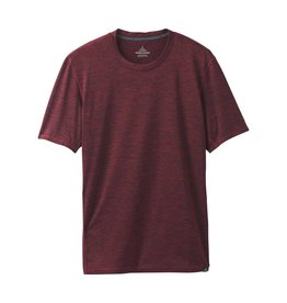 prAna prAna Hardesty Short Sleeve Black Cherry Stripe