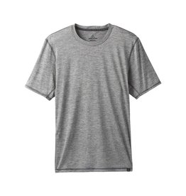 prAna prAna Hardesty Short Sleeve Titanium Grey Stripe