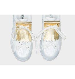 FRINGE by ELLA+RUBI FRINGE A Shoe Accessory Metallic Gold
