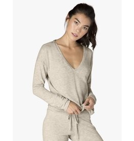 Beyond Yoga Beyond Yoga Lounge Around Hacci Pullover Oatmeal
