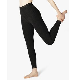 Beyond Yoga Beyond Yoga  All for Lace Midi Legging Darkest Night