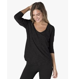 Beyond Yoga Beyond Yoga Cut & Run Pullover Darkest Night