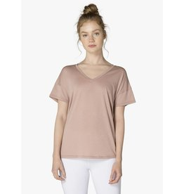 Beyond Yoga Beyond Yoga All About It Slouchy Tee Brazen Blush