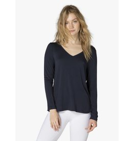 Beyond Yoga Beyond Yoga Tempting V-Neck Pullover Nocturnal Navy