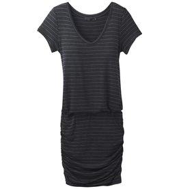 prAna Foundation Dress Charcoal Heather Stripe