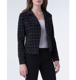 Liverpool Jeans Liverpool Moto Jacket Black Plaid