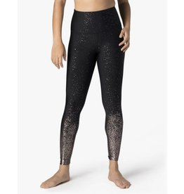 Beyond Yoga Beyond Yoga Alloy Speckled Midi Legging Blk Gunmetal