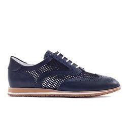 Walter Genuin Walter Genuin Brogue Golf Shoe Navy