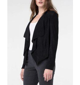Liverpool Jeans Liverpool Draped Suede Jacket Black