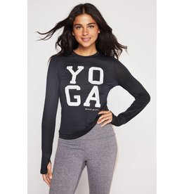 Spiritual Gangster Yoga Active Long Sleeve Black