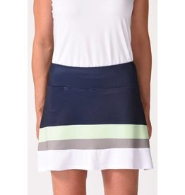 Golftini Golftini Hula Hoop Pull On Ruffle Tech Skort Navy/Green