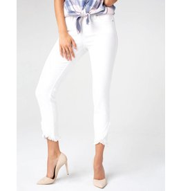 Liverpool Jeans Liverpool Abby Crop Front Scallop Bright White