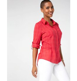 Liverpool Jeans Button Back Shirt Red