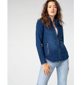 Liverpool Jeans Zip Front Curved Hem Jacket Canadian Dark