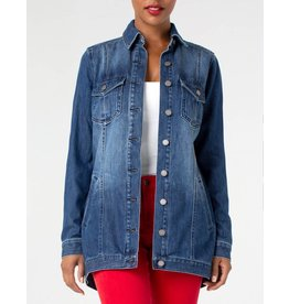Liverpool Jeans High Low Shirt Jacket