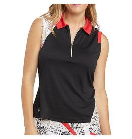 GGblue GGblue April Sleeveless Top Blk/Elite/Scarlet