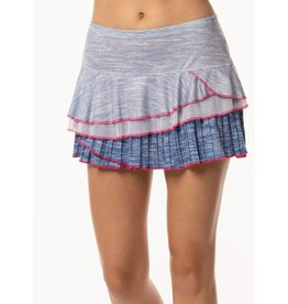 Lucky In Love Lucky In Love Mixed Media Rally Skirt Blueberry