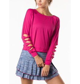 Lucky In Love Lucky In Love Cut It Up Top Raspberry