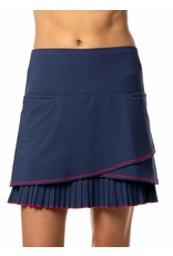 Lucky In Love Lucky In Love Scallop Pleat Skort Long Blueberry
