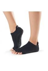 ToeSox Grip Low Rise Half Toe Black
