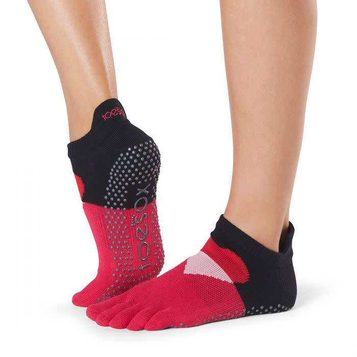 ToeSox Grip Low Rise Full Toe Passion