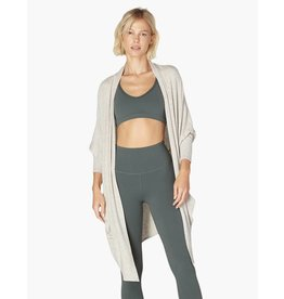 Beyond Yoga Beyond Yoga Brushed Up Origami Cardigan Oatmeal
