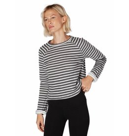 Beyond Yoga Beyond Yoga Live Out Loud Cropped Pullover Blk/Wht
