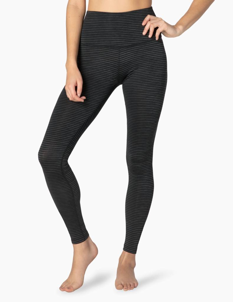 Beyond Yoga Beyond Yoga True to Stripe High Waisted Legging Blk/Surf