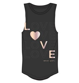 Spiritual Gangster LOVE Girls Tank Black